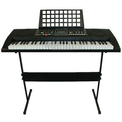 61 Keys Electronic keyboard USB MIDI Electric Piano with Stand Power Adaptor