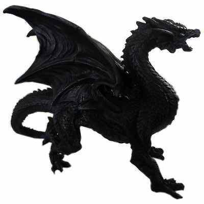 Large Black Standing Dragon Ornament Figurine Collectable