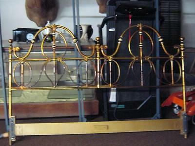 Spectacular old Solid Brass Kingsize Bed headboard, HEAVY