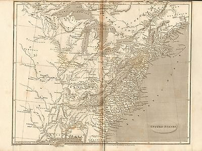 1805 Antique Map- Arrowsmith- United States