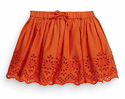•••ВNWT NEXT Girl Party Dress • Orange Embroidered Skirt • 100% cotton • 2-3 yrs