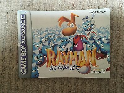 Rayman - Game Boy Advance GBA Instruction Manual Only