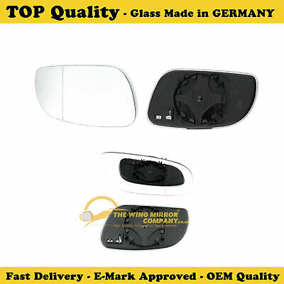 VW TOUAREG 2002-06 DOOR WING MIRROR GLASS HEATED R//HS