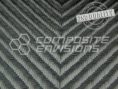 "Carbon Fiber Fabric 4x4 V-Twill 3k 270gsm/8oz 50""  - 2nd Quality"