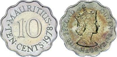 COIN Mauritius 10 Cents 1978 KM# 33  Proof