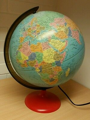 Illuminated Light Up - Globe  - World Map -  Lamp - 30cm -