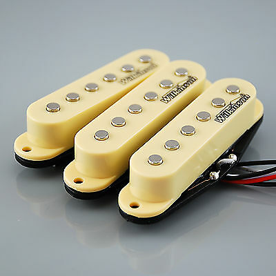NEW Set of Wilkinson HOT Single Coil Pickups for Strat®* guitars, IVORY MWHS