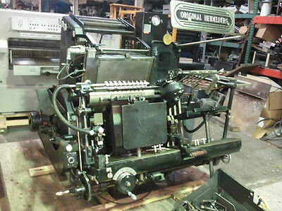 Heidelberg 13X18 Gtp With Factory Foil