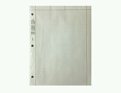 "Engineering Paper, 500 Sheets, 8.5""x 11"" (Loose Leaf) 5 squares/inch, Green Tint"
