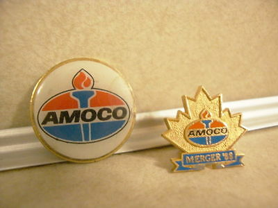 Vintage Advertising Collectible Amoco Pin Merger 1988 Gas Oil Service Station!