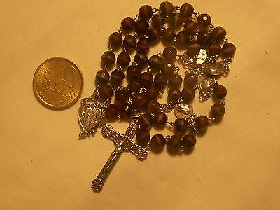 chapelet ancien argent massif agate antique sterling silver stone agate rosary