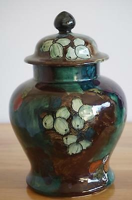 S.Hancock & Sons Titian Ware Covered Jar - F.X.Abraham - c.1920's