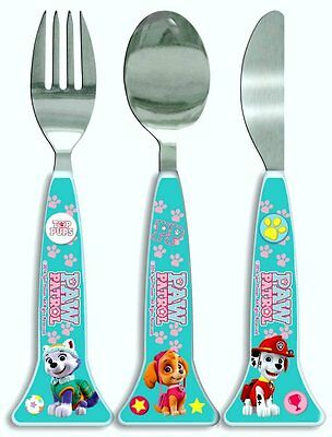 Spearmark NickJr Paw Patrol Girls 3 piece cutlery set Age 3 - Pink Shaped