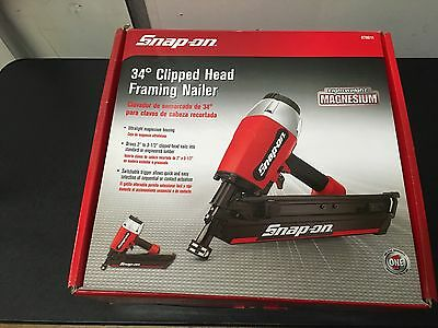 Snap-On 34 Clipped  Head Framing  Nailer 870011 Brand New