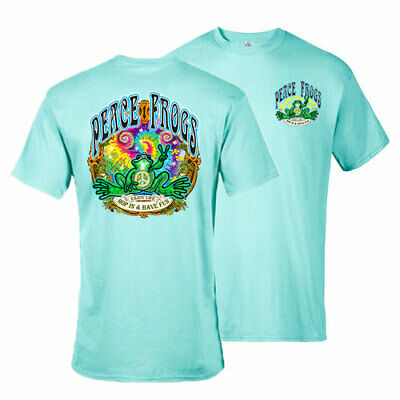 New Peace Frogs Hop In Have Fun Small Adult T-Shirt
