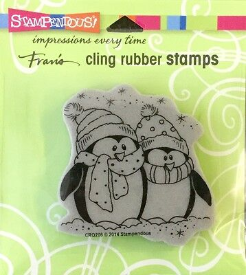 Stampendous cling rubber Bundled Penguins CRQ206