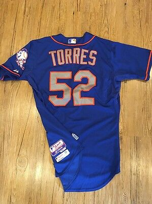 Carlos Torres New York Mets Game Issued Jersey #52