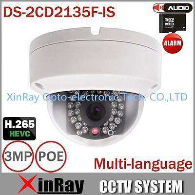 Hikvision DS-2CD2135F-IS HD 3MP IP67 IR Rete Mini Dome POE