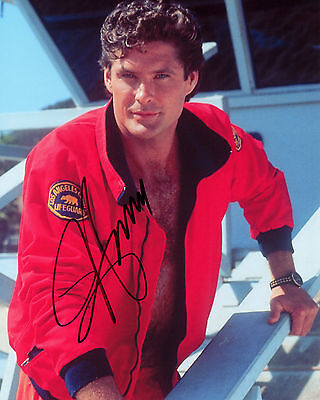 David Hasselhoff - Mitch Buchannon - Baywatch - Signed Autograph REPRINT