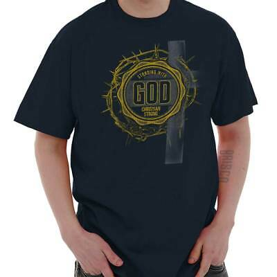 Standing With God Jesus Religious Christian Short Sleeve T-Shirt Tees Tshirts