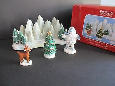 Dept 56 Rudolph & Bumble  Lighting The Christmas Star   New In Box