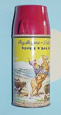 Original 1950's Roy Rogers And Dale Evans Double R Bar Ranch Lunchbox Thermos