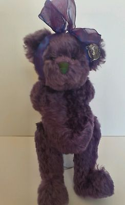 Annette Funicello Lmted Edition purple Mohair Jointed Teddy Bear, Violetta