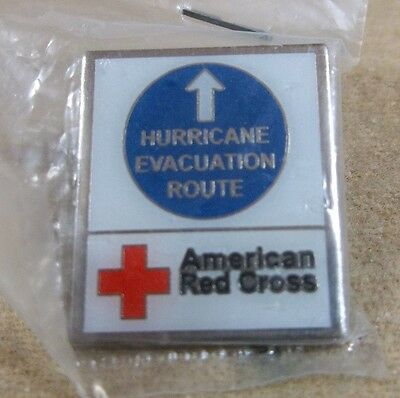 HURRICANE EVACUATION ROUTE an American Red Cross Disaster Services pin
