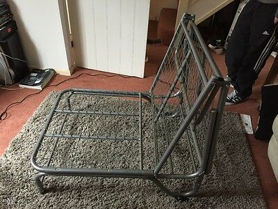 Metal Frame Single Chair Bed / Futon / Guest Bed (No Mattress)