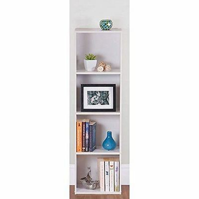 3 Tier White Wooden Coloured Bookcase Storage Shelving Display Unit Furniture