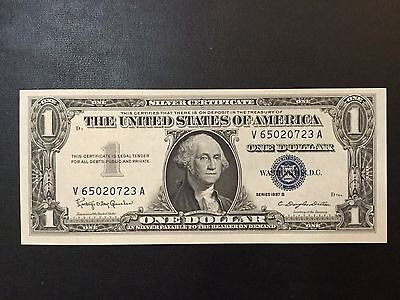 1957-B Silver Certificate Note - One Dollar Banknote !