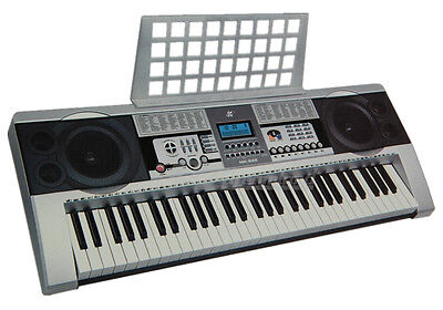 61 Keys Electronic keyboard Portable Electric Piano with Stand Power Adaptor