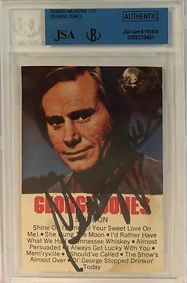 GEORGE JONES Signed Autograph Country Music JSA Beckett Encapsulated
