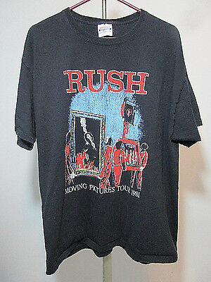 RUSH Moving Pictures Tour 1981 T-Shirt - Size XL