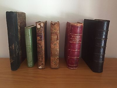 Antique books a collection of six small format rare publications