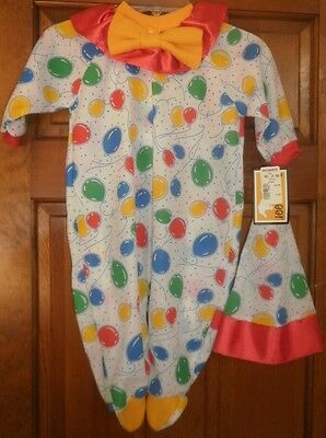 New Baby Infant 6-12 Months 19-22lbs Outfit Sleeper Hat Balloons Red Yellow Blue