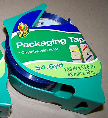 """Blue Colored packaging Tape 1.88"""" Wide 54.6 Yard 48mm X 50 m Roll Duck 317827"""
