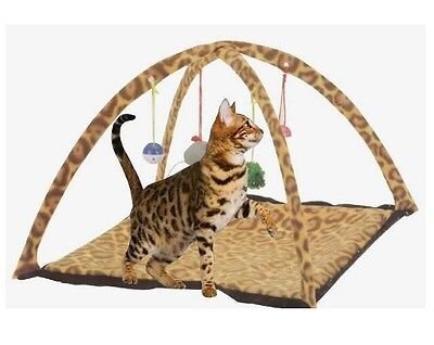 Butterfly Cat Pet Activity Playing Tent Toy Bed Pad Dog Blanket Mat House Bells