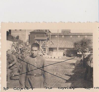 Old Russia USSR Photo WWII Soviet prisoner of War in a traditional Russian shirt