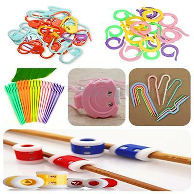 ABS Cable Knitting Crochet Locking Yarn Stitch Markers Holder Needle Clip Craft