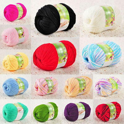50g Super Soft Cashmere Natural Smooth Bamboo Knitting Cotton Yarn Ball Baby