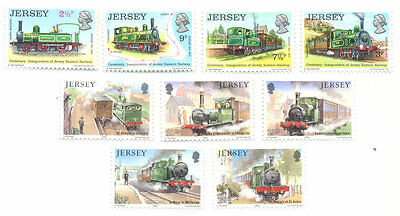 Railways-Trains of Jersey 2 sets complete mnh
