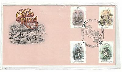 1981 Gold Rush Era Set FDC **TRIBUTE TO ARTIST CANCEL**