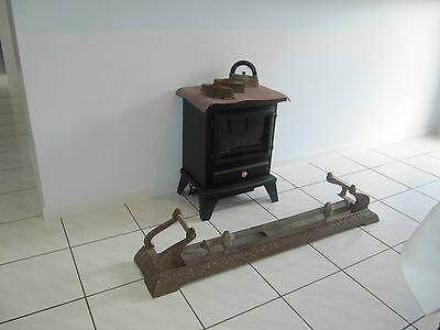 Antique Victorian Cast Iron And Brass Fire Fender - Fire Place Guard