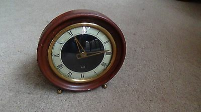 Vintage 1950's Metamec Mantel Clock Porc Complete For Spares Or Repair Runs