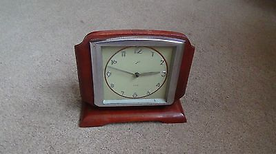 Vintage 1950's Comet 8 Day Mantel Clock  Complete For Spares Or Repair Runs