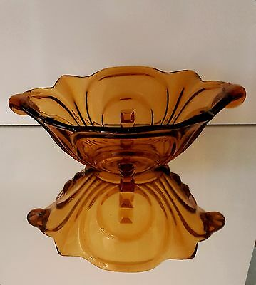 Float Bowl Art deco Walther Amber Irene Excellent Condition
