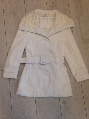 Girls Cream Belted Coat By Kylie Age 9