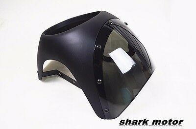 "Retro Cafe Racer Style Handlebar Fairing & Screen  Universal Fit  7"" Headlight"