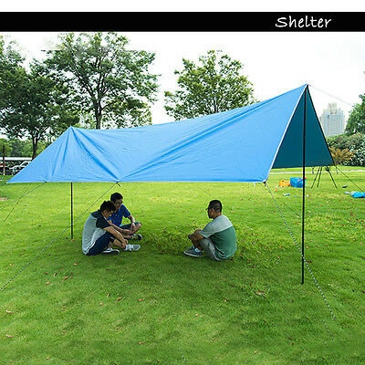Large Canopy Tarp Tent Waterproof Shelter for Outdoor Camping Family